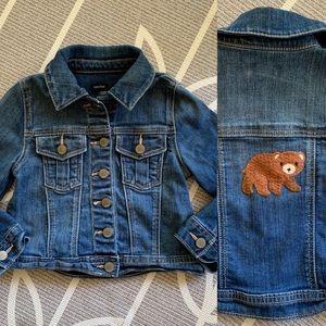 Gap Kids // Toddler Girls Jean Jacket With Bear 3
